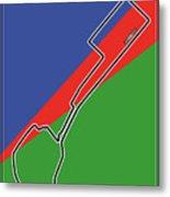 Baku Race Track Metal Print