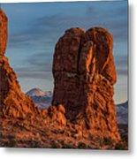 Balanced Rock Sunset Metal Print