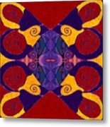 Balancing Affections Abstract Bliss Art By Omashte Metal Print