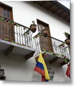 Balconies And Flags Metal Print