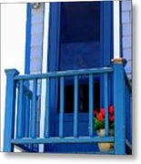 Balcony And Flower Pot Metal Print