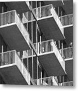 Balcony Colony Metal Print
