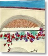 Balcony In Hilltop Village Of Vejer Spain Metal Print