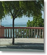 Balcony On The Beach In Naguabo  Puerto Rico Metal Print