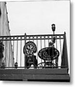 Balcony Table Metal Print