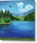Bald Eagle At Hume Lake - Psalm 103 Verse 5 Metal Print