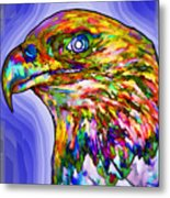 Bald Eagle Face Metal Print