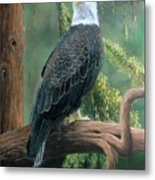 Bald Eagle In Pastel Metal Print
