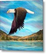 Bald Eagle Shuswap Rhapsody Metal Print