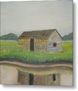 Bald Head Island Shed Metal Print