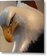 Bald-headed Eagle Sculpture Metal Print
