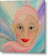 Bald Is Beauty With Brown Eyes Metal Print