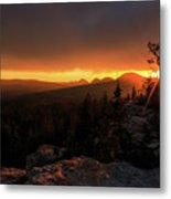 Bald Mountain Sunset Metal Print