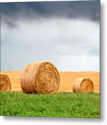 Bales And Layers Metal Print