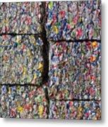 Bales Of Aluminum Cans Metal Print