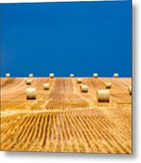 Bales On The Storm Metal Print