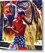 Bali Barong And Kris Dance  - Paint Metal Print