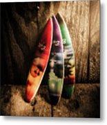 Bali Beach Surf Holiday Scene Metal Print