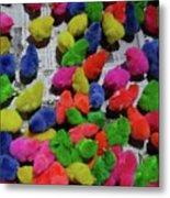 Bali Coloured Chicks Metal Print