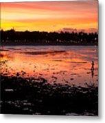 Bali Fisherman Sunset Metal Print