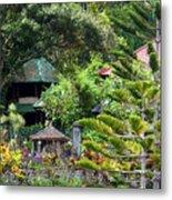 Bali Gardens Metal Print