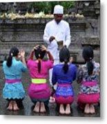 Bali Temple Women Blessing Metal Print