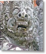Balinese Temple Guardian Metal Print
