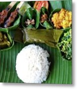 Balinese Traditional Lunch Metal Print