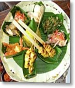 Balinese Traditional Satay Dinner Metal Print