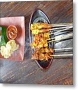 Balinese Traditional Satay Metal Print