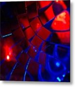 Ball Of Color - Red Metal Print