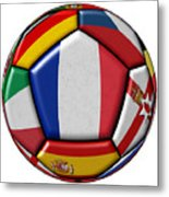 Ball With Flag Of France In The Center Metal Print