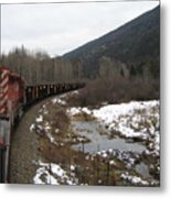 Ballast Train Metal Print