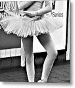 Ballerina B W Metal Print