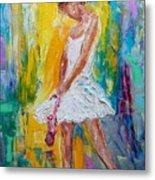 Ballerina Before The Dance Metal Print