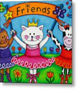 Ballerina Friends Metal Print