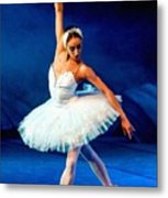 Ballerina On Stage L B Metal Print