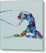 Ballerina On The Stage Metal Print by Naxart Studio