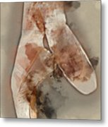 Ballerina Shoes - By Diana Van Metal Print