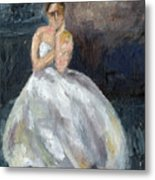 Ballerina Waiting Metal Print