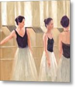 Ballerinas Waiting Metal Print