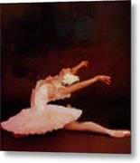 Ballet Dancer In White  Metal Print