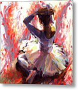 Ballet Dancer Siting  Metal Print