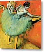 Ballet Dancers At The Barre Metal Print