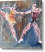 Ballet Dancers Heart Metal Print