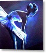 Ballet In Blue Metal Print by L Lauter