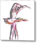 The Ballerina Dance Art Remix Metal Print