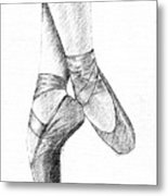 Ballet Shoes Metal Print by Al Intindola