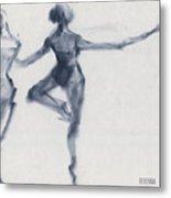 Ballet Sketch Passe En Pointe Metal Print