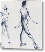 Ballet Sketch Tendu Back Metal Print